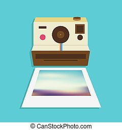 Vintage Camera Icon Vector Design