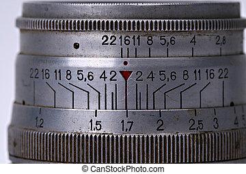 Vintage camera lens