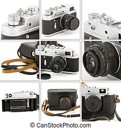 Vintage Camera Montage