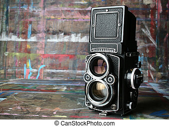 Vintage camera - old vintage camera