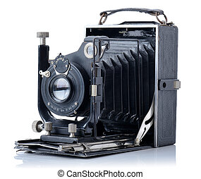 Vintage camera - on old vintage camera from 1928 isolated on...