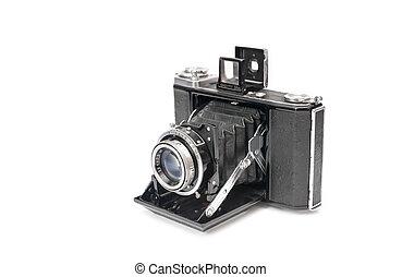 vintage camera - vintage bellows film camera circa 1940...