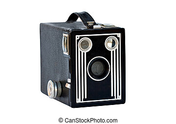 Vintage Camera - Vintage camera isolated on white with ...