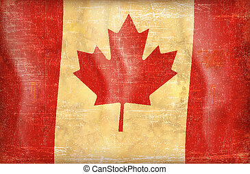 vintage canada flag