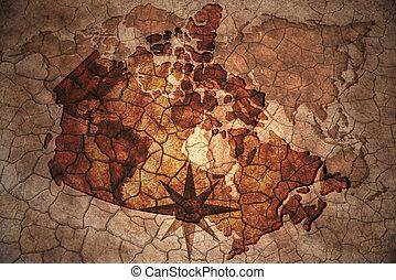 vintage canada map