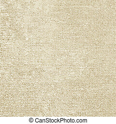 Vintage canvas texture, old pattern. Vector illustration.