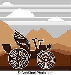 Vintage car 1800s