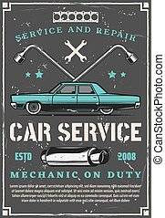 Vintage car auto repair and tuning service - Car service,...