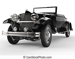 Vintage car - black front view