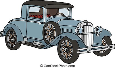 Vintage car - Hand drawing of a vintage coupe - not a real...