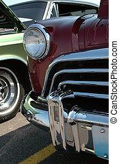 Vintage Car Detail - Front detail of vintage car