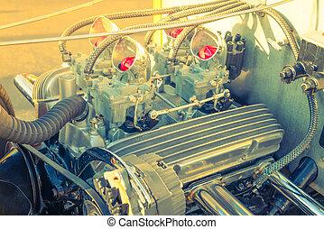Vintage car . ( Filtered image processed vintage effect. )
