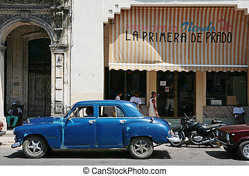 vintage car - HAVANA - 27 MARCH: Vintage car in Cuba,...