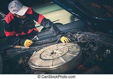 Vintage Car Mechanic