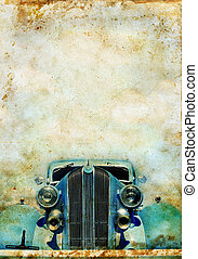 Vintage Car on a grunge background