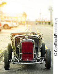 vintage car on the street