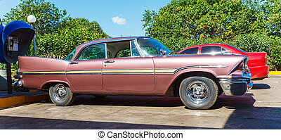 Vintage Car Parking, Havana, Cuba
