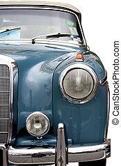 Part of a vintage motorcar.
