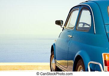 vintage car - travel destination: vintage car parked near...