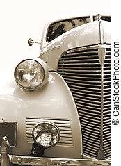 Vintage car. Sepia