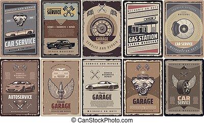 Vintage Car Service Brochures Collection