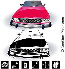 vintage car set 2