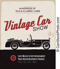 Vintage car show poster template