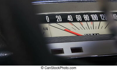 Vintage car speedometer. - Vintage retro speedometer and...