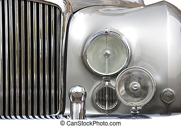 Vintage Car - Part of a vintage motorcar.