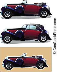 Vintage car - Vector illustration of vintage car- Lagonda LG...