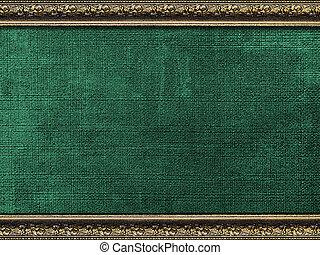 Vintage card in a carved frame