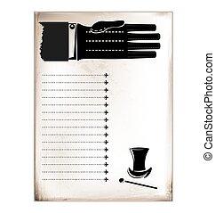 vintage card male hand