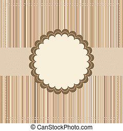 Vintage Card or package design. EPS 8 vector file included