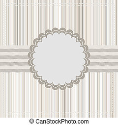 Vintage Card or template design. EPS 8