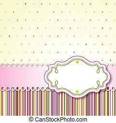 Vintage card - Template frame design for greeting card