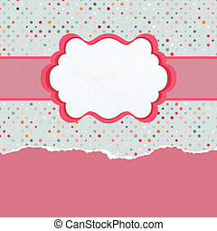 Vintage card template with copy space. EPS 8 vector file...
