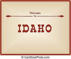 Vintage card Welcome to Idaho