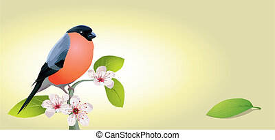 vintage card with bird