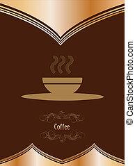 Vintage card with coffee mug. Vector