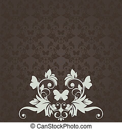 Vintage card with floral pattern