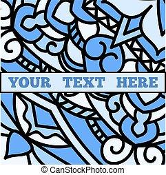 A beautiful leaflet with a blue mandala pattern