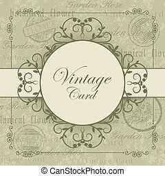 Vintage card with place for your text