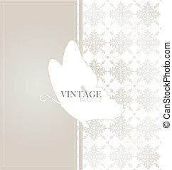 Vintage card with vintage background. Vector illustration.