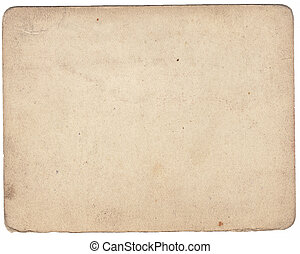 Vintage cardboard isolated on white