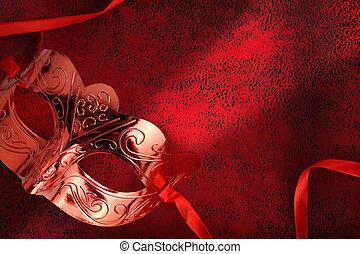 Vintage carnival mask in red