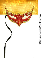 Vintage carnival mask with copy space