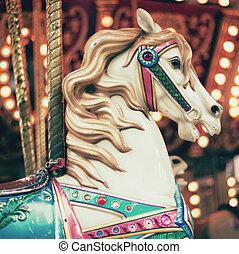Vintage Carousel Horse