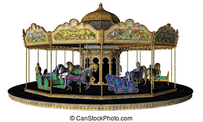 Vintage Carousel Merry Go Round - Vintage painted pony...