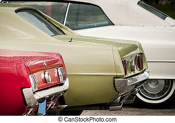Vintage cars closeup