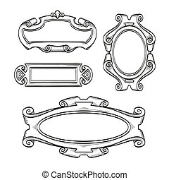 Vintage cartouches isolated